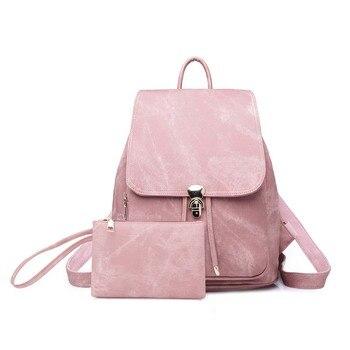vintage women backpack Denim leather style bag Waterproof Vintage Back Pack B0042