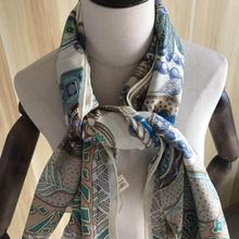 35%Silk Animal-Scarf Classic-Design 65%Cashmere Autumn Women for Lady Girl Spring 140--140cm