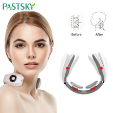 Electric Pulse Back Neck Massager Far Infrared Heating Pain Relief Health Care Relaxation Stimulator Smart Cervical Massager electric cervical vertebra massager handheld hammer infrared heating shiatsu shoulder back neck massager full body relaxation
