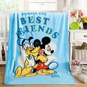 Image 4 - Manta de Minnie Mouse de Disney para bebé, manta de franela, manta cálida de felpa, funda de edredón, regalo para bebé, 100x140cm