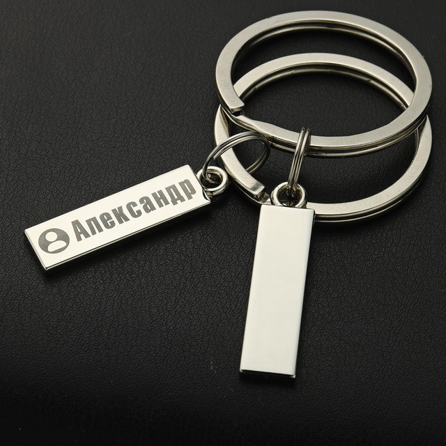 Exquisite Anti-lost Keychain Small Chic Personalized Customized Keyring  For Car Name For Men Women Gift  Key Chain P021 3