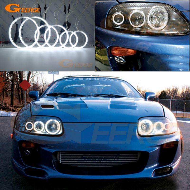 For Toyota Supra MKIV A80 1993-2002 Excellent Ultra Bright Illumination CCFL Angel Eyes Kit Halo Ring