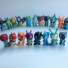 24 шт./лот различные Мультяшные аниме игрушки 5 см Slugterra ПВХ модели игрушки куклы Детская игрушка Коллекция украшение для дома