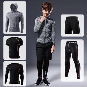 Children Tracksuit Compression Sports Suit Gym Fitness Clothes Boys Running Jogging Sport Wear Training Exercise Tight Dry Fit