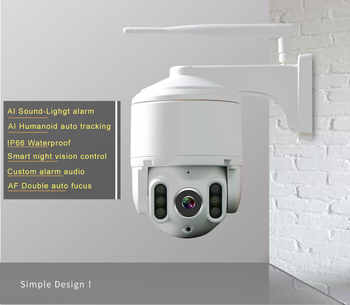 IP camera outdoor 1080P Wifi Camera Outdoor camera color night vision Wifi PTZ Security Speed Dome Camera 360 camera cctv camera - DISCOUNT ITEM  29% OFF All Category