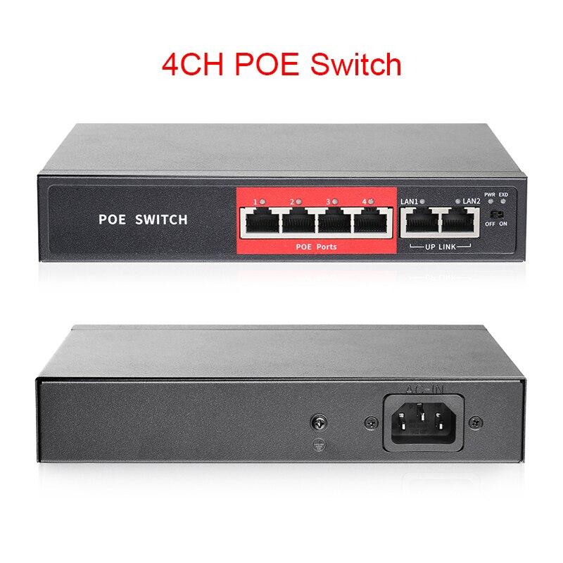 Techage 48V 4CH 8CH POE przełącznik z 10/100Mbps IEEE 802.3 na stronie/w Over Ethernet dla IP bezprzewodowy punkt dostępowy system kamer CCTV