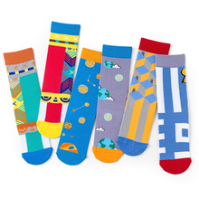Wholesale new Skateboard socks mens European and American cotton British wind art