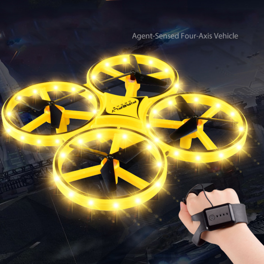 Image 3 - Mini Helicopter Induction Drone Smart Watch Hand Gesture Sensor Remote RC Aircraft UFO Flying Quadcopter Interactive Kids ToysRC Helicopters   -
