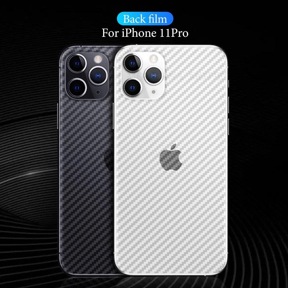 Carbon Fiber Back Film For Iphone 11 Pro Max XR X XS Screen Protector Anti-fingerprint Back Flim For Iphone 11 Pro 7 8 6 6S Plus