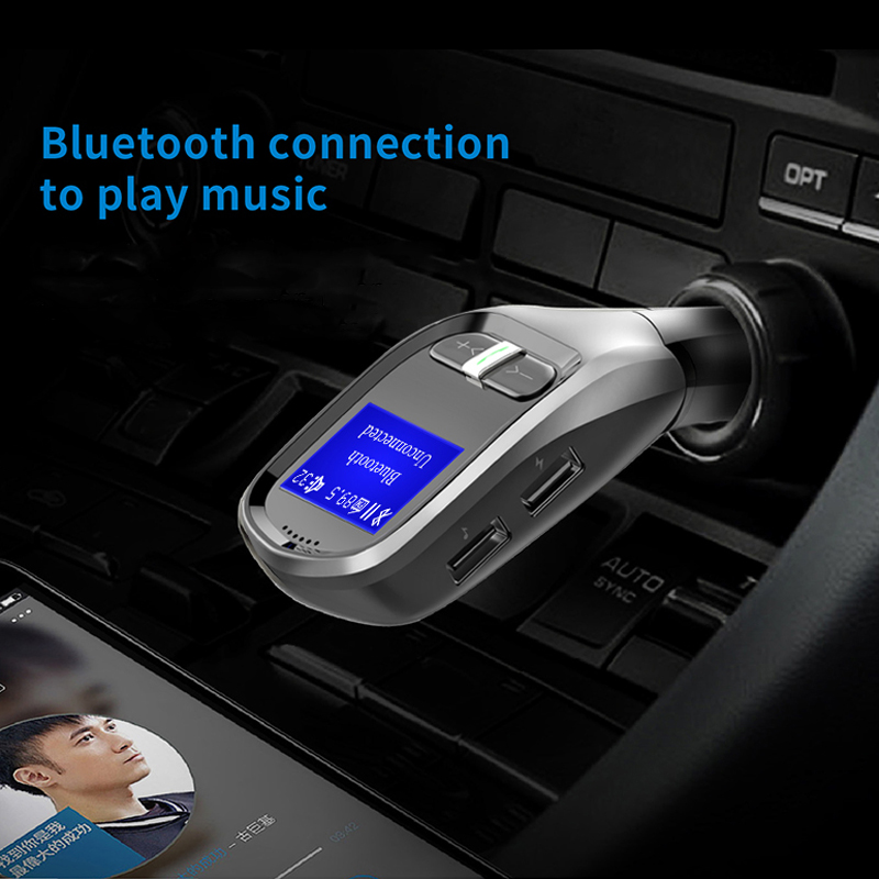 Handsfree Bluetooth 4.2 G11 FM Transmitter MP3 Radio Adapter Car Kit USB Charger