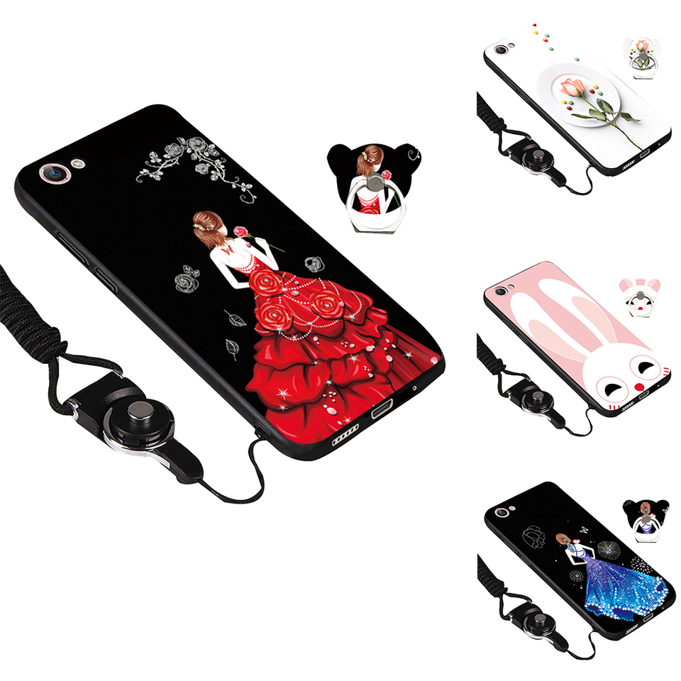 Busirde Replacement for Vivo Y66 Y67 Y69 Y71 Phone Frosted Shell Cartoon TPU Soft Smartphone Back Case