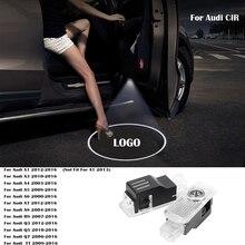 цена на 2pc Car Door Light For Audi Sline A6 C6 A1 A3 A4 B6 B8 C5 A5 A7 A8 Q5 Q7 TT S3 S4 S5 S6 S7 S8 RS R8 Sline Logo Courtesy Light