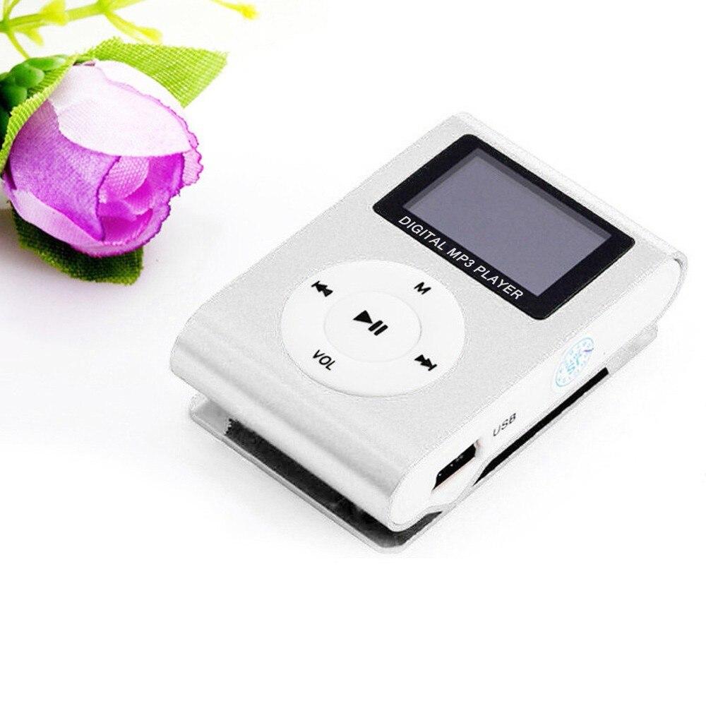 Мини-USB MP3-плеер с зажимом, ЖК-экран, поддержка музыки 32 ГБ, воспроизведение музыки с fm-радио, видеоплеер проигрыватель электронных книг MP3 со ...