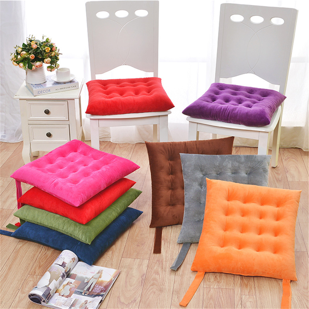 Decor Hot Soft Thicken Pad Chair Cushion Tie on Seat Dining Room Kitchen Office
