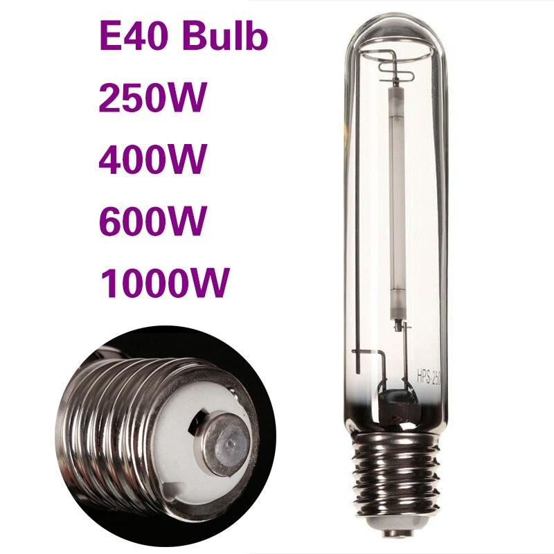 Bombilla de luz para cultivo de invernadero, E40 balasto, plantas HPS, iluminación para balastos de jardín, planta de 600W, supercrecimiento para lámparas de plantas