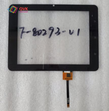 Black 8 Inch touch screen P/N F-80293-V1 Capacitive touch screen panel repair and replacement parts free shipping цена 2017