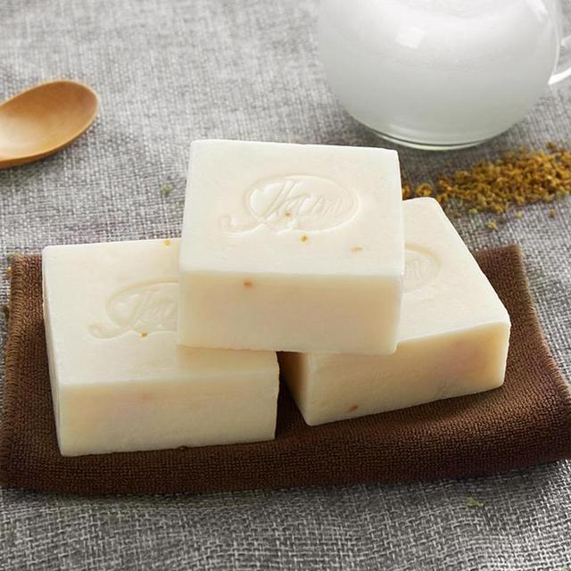 Hand Soap Thailand Handmade Collagen Vitamin Skin Whitening Bathing Tool Rice Milk Soap Bleaching Agents Acne Soap 4