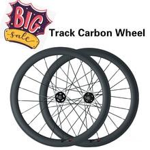 Полностью углеродное колесо велосипеда 50 мм с фиксированной передачей ступица одной скорости Novatec Track Hub 165 166 колесная пара 700Cx20. 5 мм