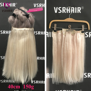 Image 3 - VSR 120g 150g  7pcs/set Thickness ends Machine Remy Clips Hair Natural Extensions Human Hair Clip Hair Extensions