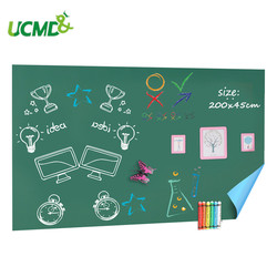 45 x 200cm Self-adhesive Chalkboard Blackboard Stickers Removable Room Decor Wall Sticker Erasable Drawing Learning Note Board