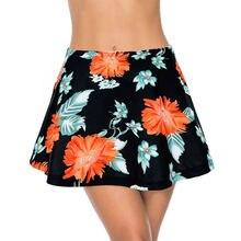 Летнее бикини с цветочным принтом нижнее платье и короткая пляжная