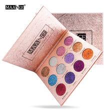 MAANGE12 color glitter powder eye shadow palette matte nude color eye shadow palette stage makeup makeup tool eye shadow palette
