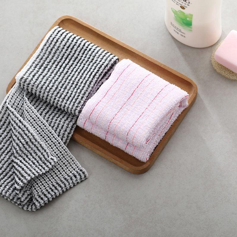 Women Men Carbon Fiber Beauty Skin Bath Towel Wash Cloth Exfoliating Scrubber  NEW
