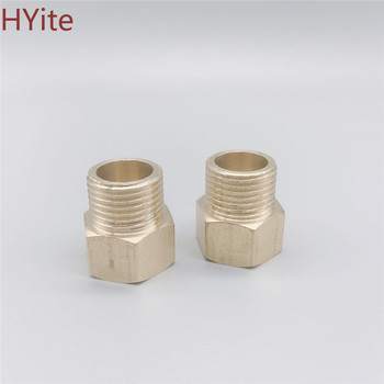 Brass Hose Pipe Fittings F/M 1/8 1/4 3/8 1/2 PT Male to Female Thread Hex Bushing Pipe Fittings Adapter 10pcs 1 8 1 4 3 8 npt thread internal hex thread socket pipe plug fitting connector brass pipe fittings mechanical fasteners