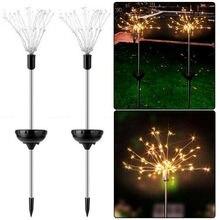 цена на 90 LED Starburst Solar Powered Lawn Light Warm White Solar Lights for Garden Decoration