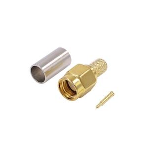 5 шт. SMA разъем обжимной разъем для RG58 RG142 RG400 LMR200 LMR195 коаксиальный кабель