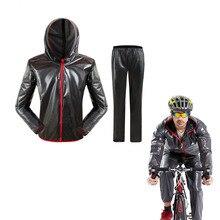 Водонепроницаемый Мотоцикл велосипедные куртки/Спорт на открытом воздухе непромокаемый двигатель дождевая куртка, дождевик набор Ciclismo Jaqueta Masculina