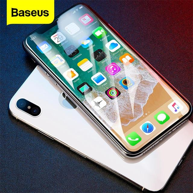 Baseus Screen Protector Tempered Glass For iPhone X 10 4D Surface Full Cover Protection Glass Film For iPhoneX Protective Glass
