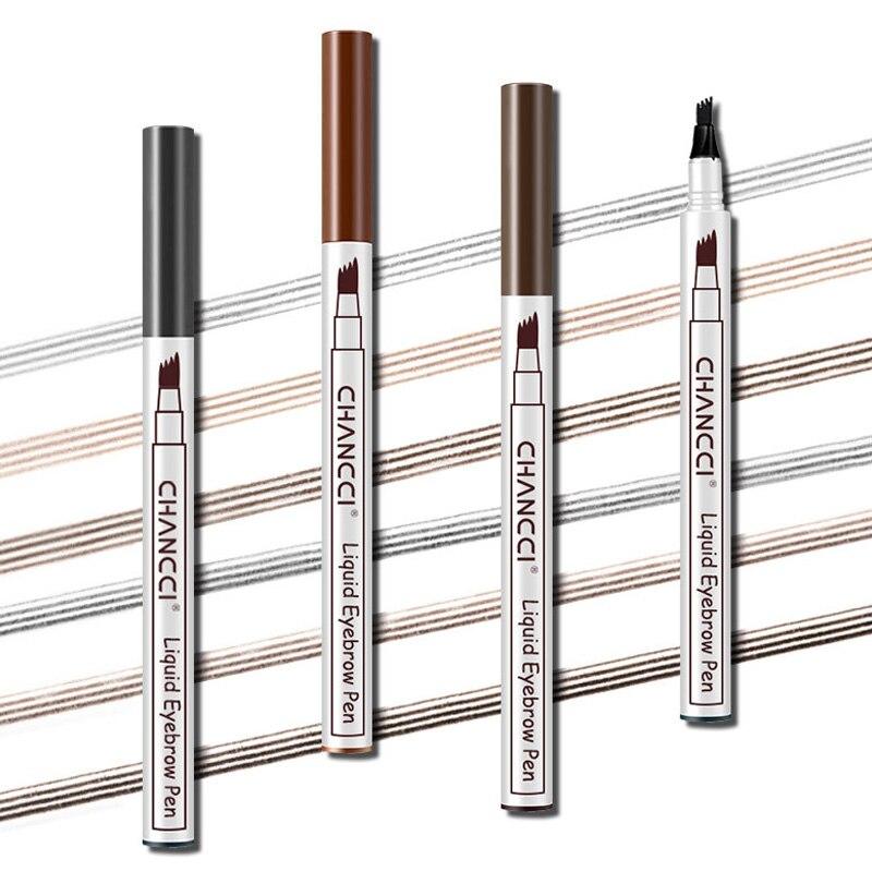 Microblading Tattoo Eyebrow Pencil Long Lasting Waterproof Fork Tip Makeup Ink Sketch Eye Brow Pen WH998