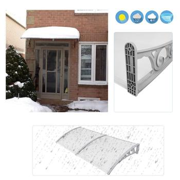 Shade Window Door Sun Canopy Hollow Sheet Awning Protection Canopy Awning Shelter Porch Front Rain