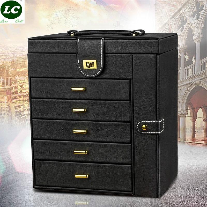 Multifunctional Jewelry Box Large Capacity Storage European Ring Gift Organizer