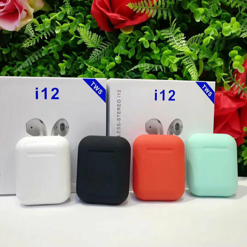 NEW I12 TWS Bluetooth Headset Wireless Earphones 3D Surround Sound Bluetooth Earphone PK I11 I9s Wireless Touch Earbuds