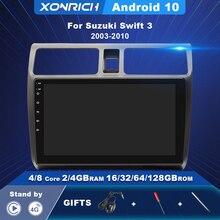AI Voice Control Android 10 Multimedia Player For Suzuki Swift 2003-2005 2006 2007 2008-2010 Car Radio Navigation RDS Carplay 4G