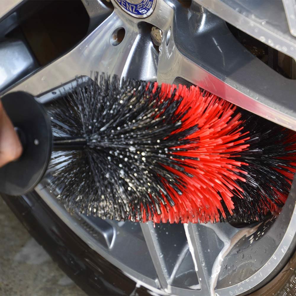 Wheel Rim Cleaning Brush Long Soft Bristle Car Wheel Brush,Rim Tire Detail Brush,Multipurpose Use Car Wheel Brush