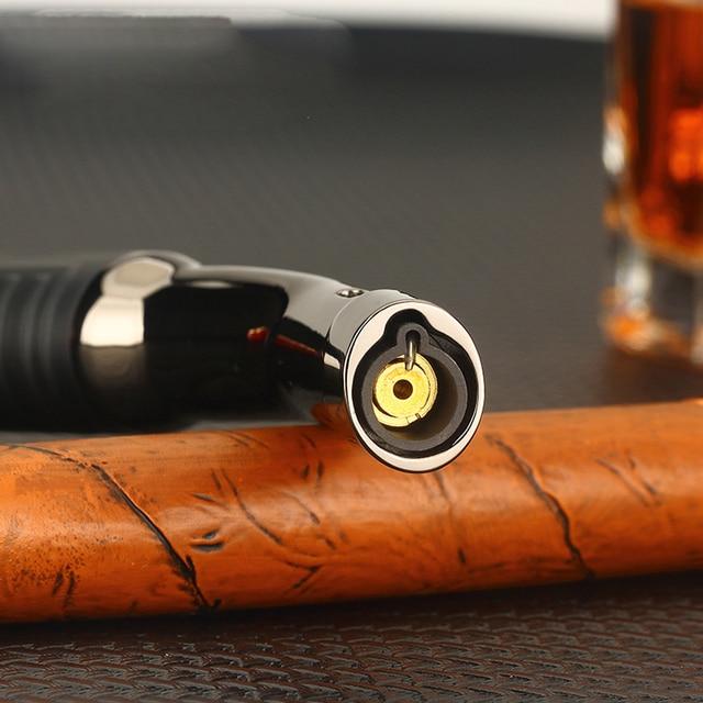 Super Long Kitchen Cooking Torch Lighter Metal Gas Lighter 1300C Cigar Cigarette Lighters Smoking Accessories Gadgets for Men 4