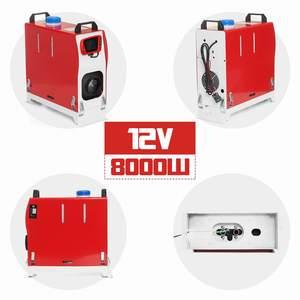 Image 4 - Tudo em uma unidade 8000w 12v aquecedor de carro ferramenta calor diesel aquecedor único furo lcd monitor estacionamento mais quente para o caminhão carro ônibus barco rv