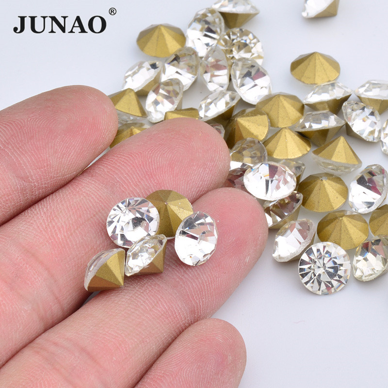 20pcs x 12mm Champagne Round Crystal Diamante Faceted Crystal Diamante Buttons