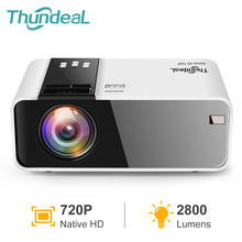 Thundeal td90 mini projetor hd nativo 1280*720p led beamer android wifi hd em cinema cinema 3d projetor inteligente