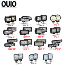 Off Road LED Bar 2PCS/lot OffRoad 4x4 Truck SUV ATV Work Light Car Tractor 18W 27W 48W 72W 120W 168W 240W Accessories
