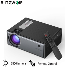 Blitzwolf BW-VP1 LCD Projector 2800 Lumens Support 1080P Input Multiple Ports Po