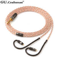 GUCraftsman 5n OFC copper 0.78mm 2Pin TFZ ZS KXXS LCDi4 Oriole JH11/JH3X pro ve6 XControl a12t/u12 Headphone upgrade cable