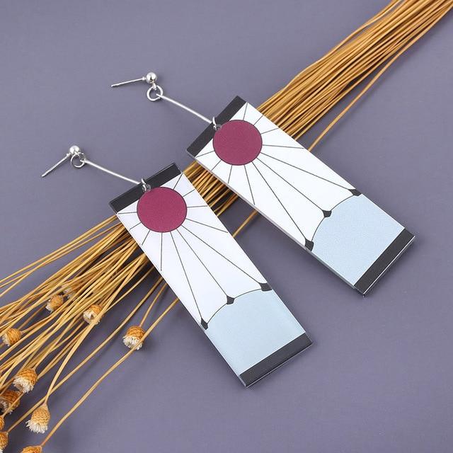 Acrylic Drop Earrings Demon Slayer Kimetsu no Yaiba Blade of Ghost Earings For Women Men Cosplay Jewelry Accessories Gift 4