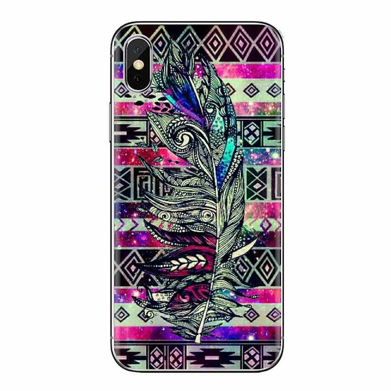 TPU Transparante Covers Voor iPod Touch Apple iPhone 4 4S 5 5S SE 5C 6 6S 7 8 X XR XS Plus MAX Mandala Tribal veer Dreamcatcher