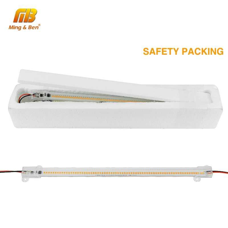 Светодиодный светильник 220 в 30 см 50 см SMD2385 72 светодиодный s светодиодная лента прозрачная оболочка молочно-белая оболочка кухня под шкаф теплый белый холодный белый