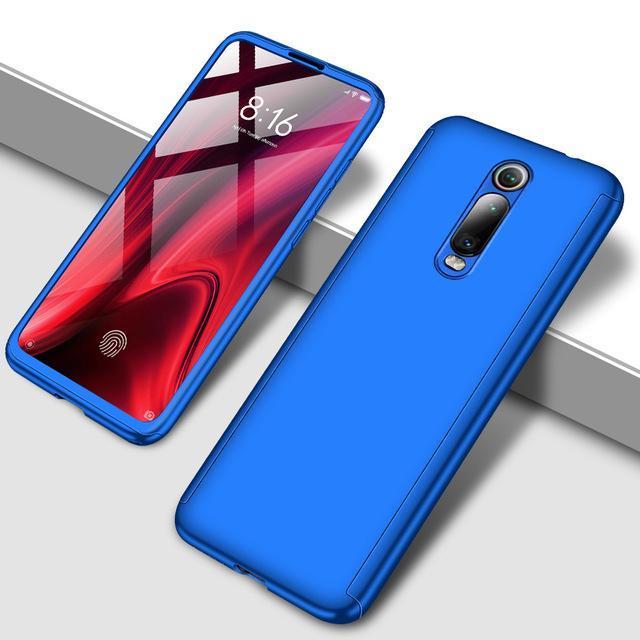 Противоударный 360 градусов чехол для телефона для Xiaomi Redmi Note 5 5A 6 7 8 Pro Полный Чехол для Redmi 7 7A K20 Pro Fundas Capa Coque - Цвет: Синий
