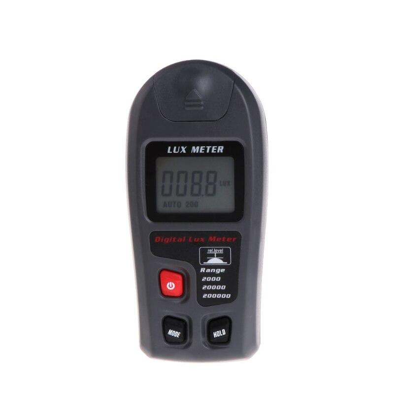 Цифровой Luxmeter 0,1 ~ 200000Lux, измеритель освещенности, датчик, большой ЖК-дисплей, фотометр
